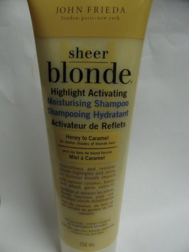 John Frieda Sheer Blonde Highlight Activating Moisturising Shampoo,Honey to Caramel 8.3 Oz - Sheer Blonde Shampoo Honey