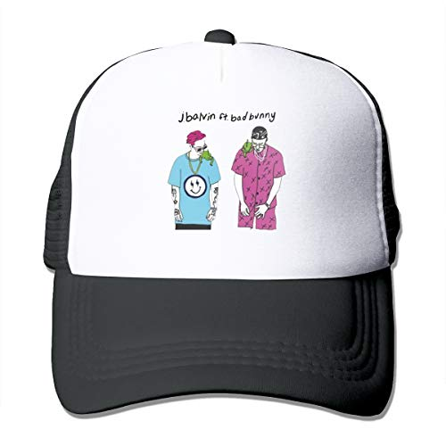 Wonalissy Unisex Bad J Balvin Bunny Casual Hats for Mens Women Boys & Girls One Size Black
