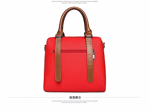 rojo de CCZUIML la de Hombro Mujeres Simple Manera Las del Amarillo Bolso Bolso Bag de qvCqwr6