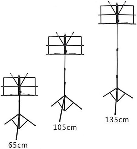 Opvouwbare Blad van de Muziek statief Aluminium Music standhouder hoogte verstelbaar met draagtas voor Musical Instrument