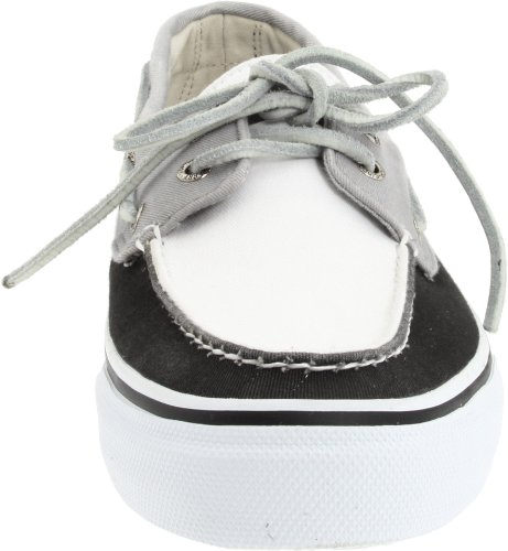 Sperry Bahama Canvas, Mocasines de Lona Para Hombre Negro (Black/White/Grey)