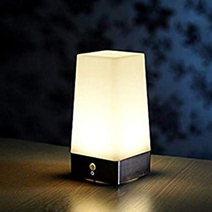 Inalámbrico Pir Sensor Movimiento LED Noche Luz Escritorio ...
