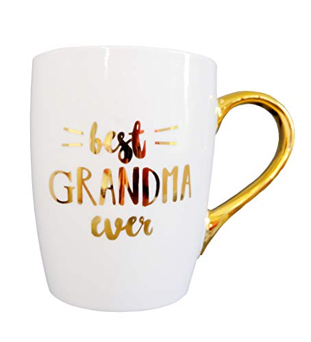 - Mothers Day Gifts for Grandma Best Grandma Ever Inspirational Ideas Gifts for Grandma Mom Aunt Women Christmas Birthday Gift Ceramic Coffee Mug Tea Cup With Gold Handle by Mon Trésor Decor
