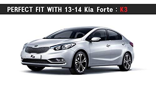 K3 Genuine Fog Lights Lamp Assembly /& Cover with Wire for 2013 2016 Kia Forte