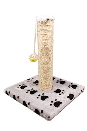 BPS (R) Juguete Rascador Con Campana para Gatos, Amarillo, Morado, Rosa, Gris y Verde, Scraper para Gato, Animales Domésticos.