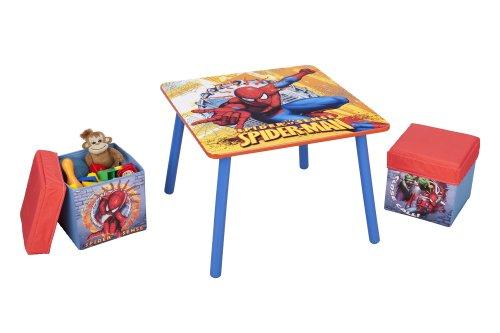 Delta Enterprise Spiderman Table and Ottoman, Baby & Kids Zone