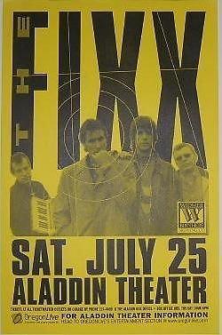 Fixx Reach The Beach Rare Original 1998 Aladdin Theater Portland Concert Poster from ConcertPosterArt