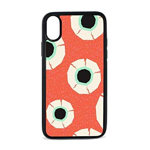 Case for iPhone Eyeball Human Organ Creative Design Art Digital Print TPU Pc Pearl Plate Cover Phone Hard Case Cell Phone Accessories Compatible with Protective Apple Iphonex/xsCase 5.8 Inch