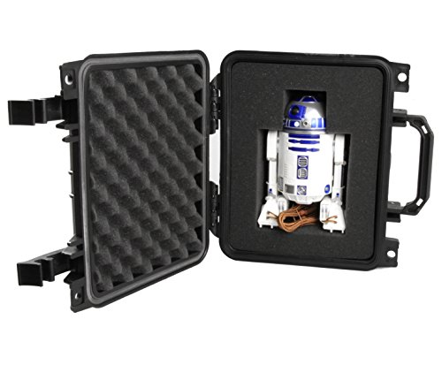 Casematix Collector Case Designed For R2 D2 And R2 Q5 App Enabled Droid By Sphero   Waterproof R2d2 Carry Case With Protective Foam Compartment And Travel Handle