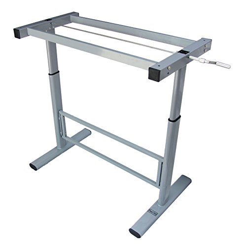 Manual height adjustable standing desk base frame stand - Table up and down ...