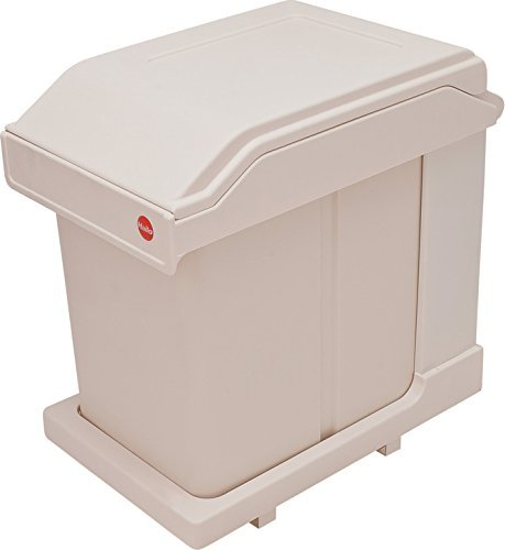 Hafele Pull-Out Trash Can with Lid Hailo Easy Cargo 20, Capacity 21 qts, for 12