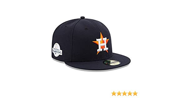 5c50e1b00a00c Amazon.com   Houston Astros New Era 2017 World Series Champions Side Patch  Home 59FIFTY Fitted Hat - Navy   Sports   Outdoors