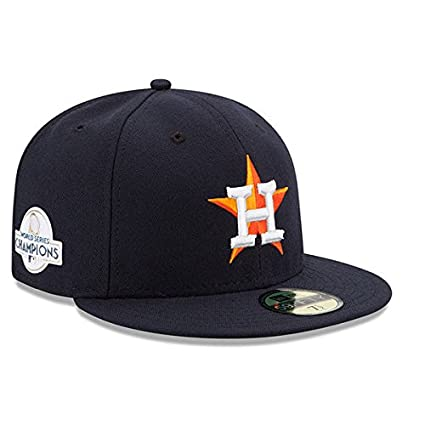 06579d5fb592e Houston Astros New Era 2017 World Series Champions Side Patch Home 59FIFTY  Fitted Hat - Navy