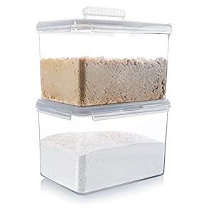 Komax Hikips Large Food Storage Containers for Flour, Sugar, Rice – 179 Once/22 Cup, Set of 2 - Premium Tritan Material, BPA Free - Airtight, Leakproof, Snap Locking Lids - Freezer and Dishwasher Safe