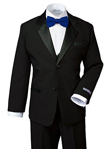 Spring Notion Boys' Classic Fit Tuxedo Set, No Tail 5 Black-Royal Blue (Toddler Blue Tuxedo)