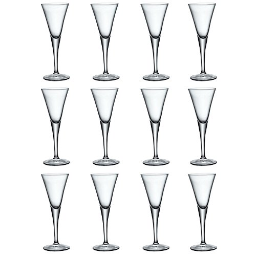 Bormioli Rocco Fiore Clear Stemmed Sherry Glasses - 55ml - Pack of 12