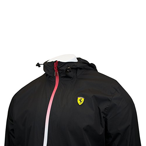 Scuderia Ferrari Men's Formula 1 2017 Black 100% Polyester Windbreaker F1 - Ferrari Jacket Men