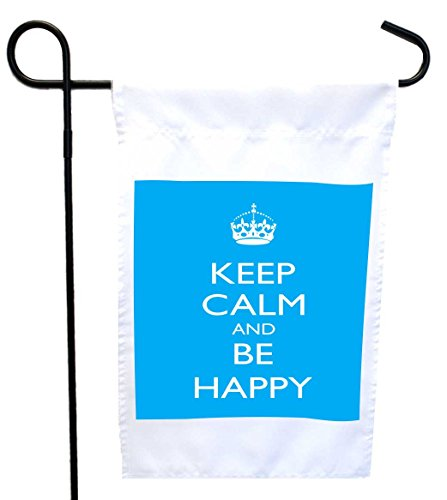 Rikki Knight Keep Calm and Be Happy - Sky Blue Color Hous...