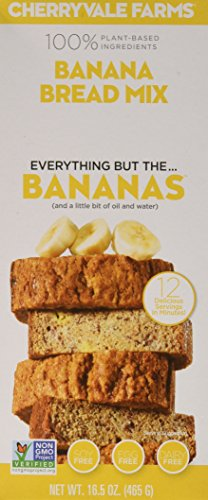 Cherryvale Farms, Banana Bread Baking Mix, Everything But The Bananas, Add Fresh Produce, Tastes Homemade, Non-GMO, Vegan, 100% Plant-Based, 16.5 oz (pack of 2)