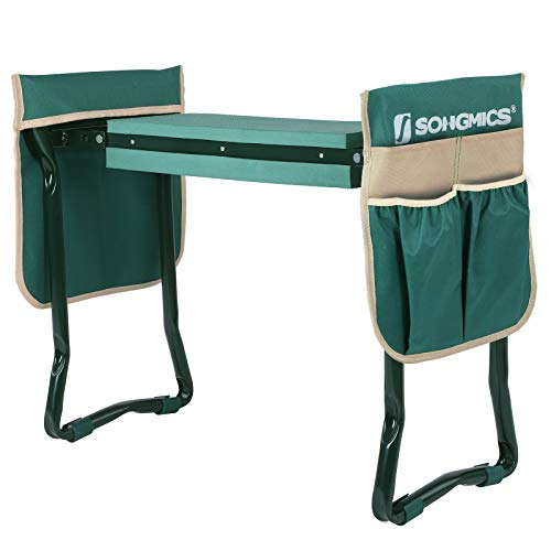 - SONGMICS Folding Garden Kneeler - Folding Bench Stool with Kneeling Pad for Gardening - Sturdy, Lightweight and Practical - Protect Your Knees and Clothes When Gardening - Gardening Gift UGGK50L