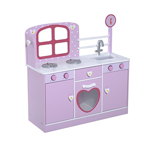 Qaba Country Cottage Kids Wooden Play Kitchen by Qaba