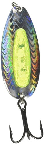 Pixee Spoons - Blue Fox Rattlin' Pixiee Spoon, 7/8-Ounce, Holographic Herring/Yellow