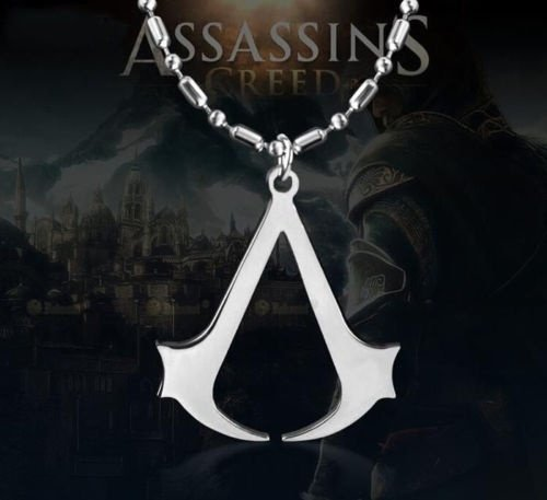Huasen Assassin's Creed Pendant Necklace Classic Creed Altair Game Neckchain-Silver (Ac Creed Necklace)