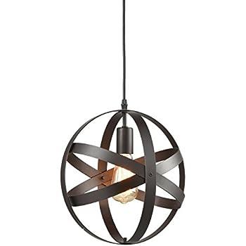YOBO Lighting Industrial ORB Sphere Metal Globe Chandelier Pendant Light
