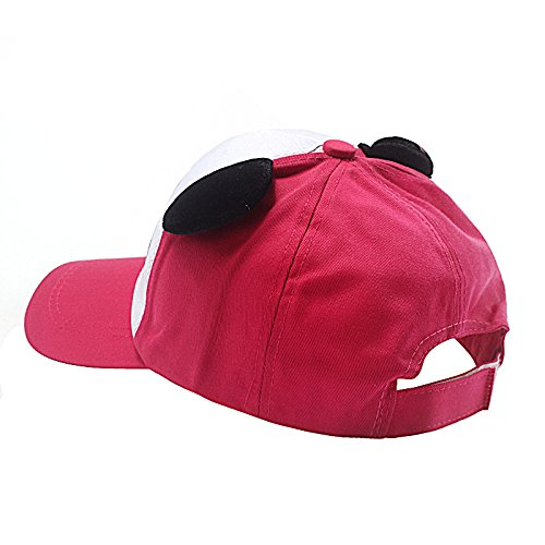 EOWEO Caps Hat,2019 anniversary celebration Cotton Cute Panda Baseball Cap Hat Hot Pink