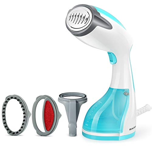 Beautural Steamer for Clothes, 1200-Watt Powerful Handheld Garment Steamers, Wrinkle Remover, Clean and Sterilize, 30s Fast Heat-up, Auto-Off, 100% Safe, 260ml High Capacity for Home and Travel
