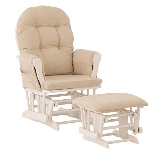 Premium Nursery Glider and Ottoman Rocker Chair Storkcraft in White ...