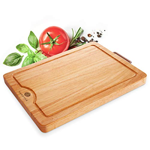 Longest-Lasting Cutting Board for Kitchen,Extra Thick & Large,100% Solid Hardwood Chopping Board,Professional Grade Butcher Block(15.7x11.8inches) for Meats,Vegetables,Fruits,Cheese.YUSOTAN