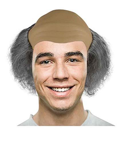 HalloweenPartyOnline Old Bald Man Wig HM-096]()