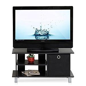 Furinno 13239EX/BK Simplistic TV Entertainment Center with Bin Drawers, Espresso/Black