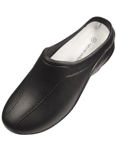 Natuurlijke Uniformen - Dames Strapless Clogs, Black 32345-9b (m) Us