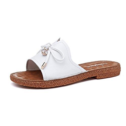 blanco sandalias de Negro PENGFEI beige Color verano para sandalias estudiante Blanco Tamaño mujer Playa Chanclas Pareja y Cómodo Negro Antideslizante transpirable planas y de Ocio zapatillas playa qYSPTrYx