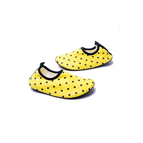 Secret Paradise par sandalias zapatos deportes natación agua esquí Barefoot pasta piel suave zapatos zapatos de buceo amarillo