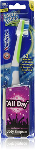"Arm & Hammer Tooth Tunes Spinbrush Cody Simpson ""All Day"" Singing Toothbrush"