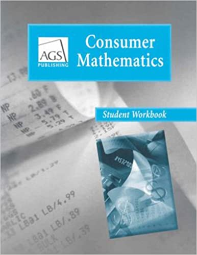 Consumer mathematics student workbook ags secondary 9780785429456 consumer mathematics student workbook workbook edition fandeluxe Image collections