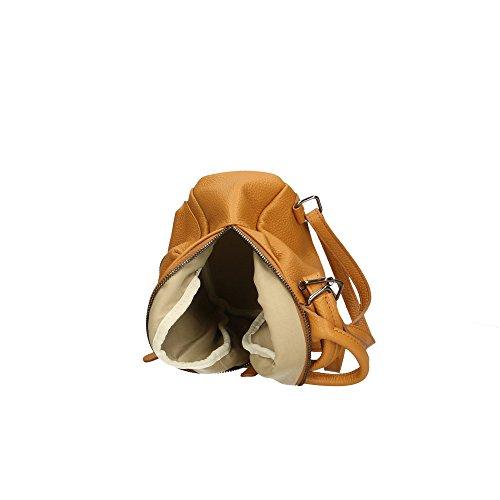 Aren Cm véritable en à Sac dos femme cuir Italy 17x20x11 Made Bronzer in 4nr4wPqYx