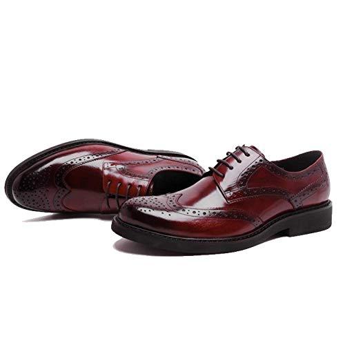 da Confortevole Scarpe Fashion Stile Reddishbrown Piattaforma Stringate Trend Scarpe Business Scarpe Britannico NIUMT Sposa FR18qwx