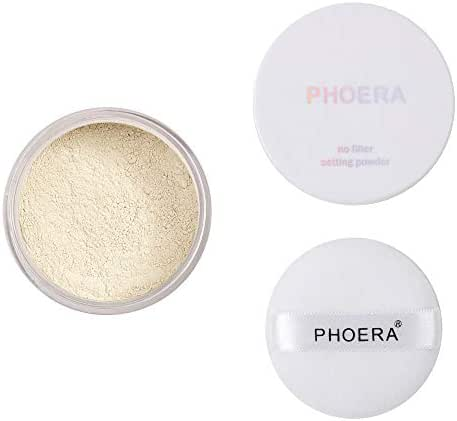 Fabal Matte oil control Powder Loose Face Powder Translucent Smooth Setting Foundation Makeup (A)