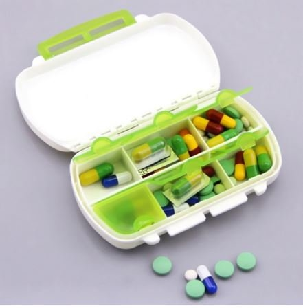 Green, 6 Cells Travel Medicine Pill Tablet Storage Organizer Case Box by SiamsShop
