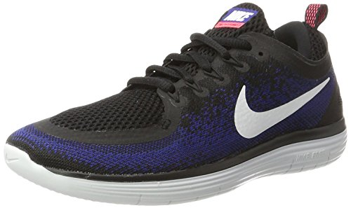 Nike Free RN Distance 2, Scarpe da Corsa Uomo Nero (Black/White/Deep Royal Blue/Hot Punch)