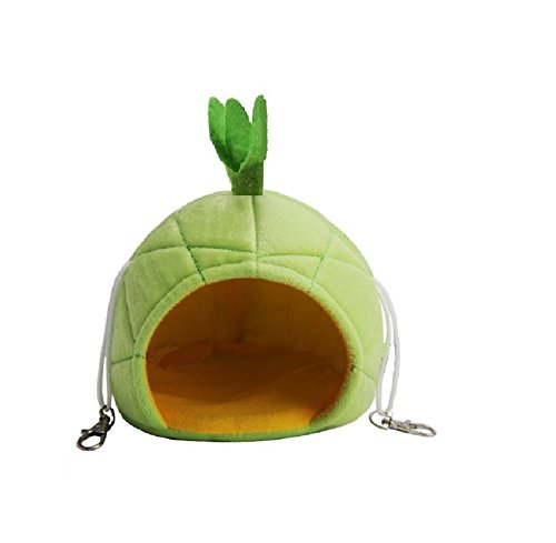 Cute Hamster Cage Hanging Bed Guinea Pig Sleep Hidden Cave Gift for Small Animal Pet Rat Mice Chinchilla Hedgehog (Pineapple1)