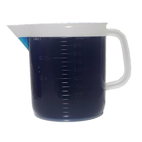1000mL Polypropylene Pitcher Beaker - 1 Liter Short Form Handled Beaker