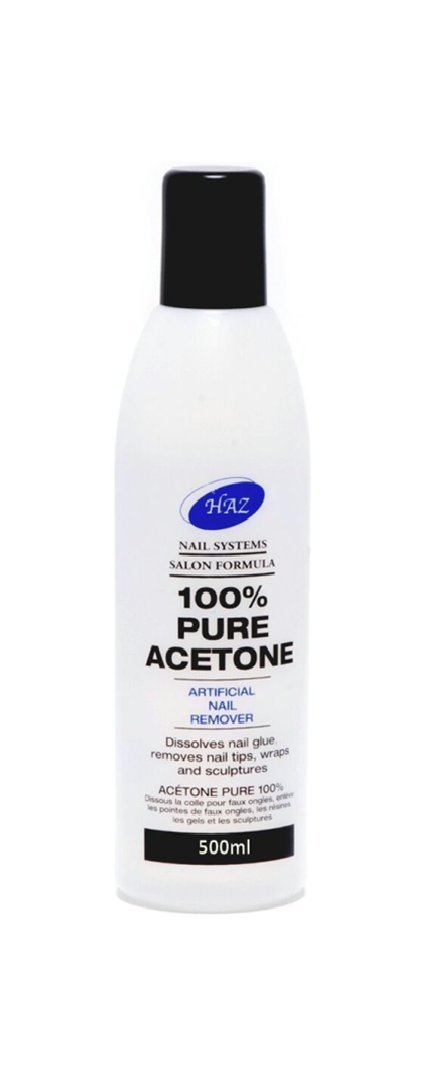 HAZ Pure Acetone Nail Polsih Remover 500 ml GB TRADERS A500