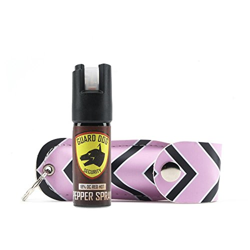 (Guard Dog Security Fireista Pepper Spray with Glow in the Dark Keychain, Red Hot Self Defense Spray with UV Dye)