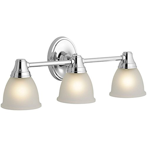 KOHLER K-11367-CP Transitional Triple Light Sconce for Forte Faucet Line, Polished Chrome