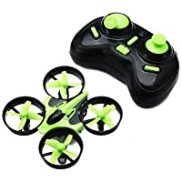 Remote Control Aircraft - Mini 2.4G 4CH 6 Axis Headless Mode RC Quadcopter RTF (Black Green) by DOM - Remote Control Aircraft